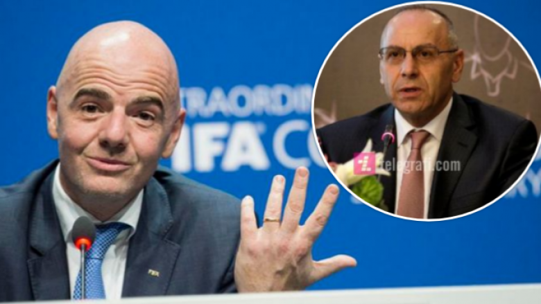 Presidenti i FIFA-s, Infantino fton në takim presidentin Ademi
