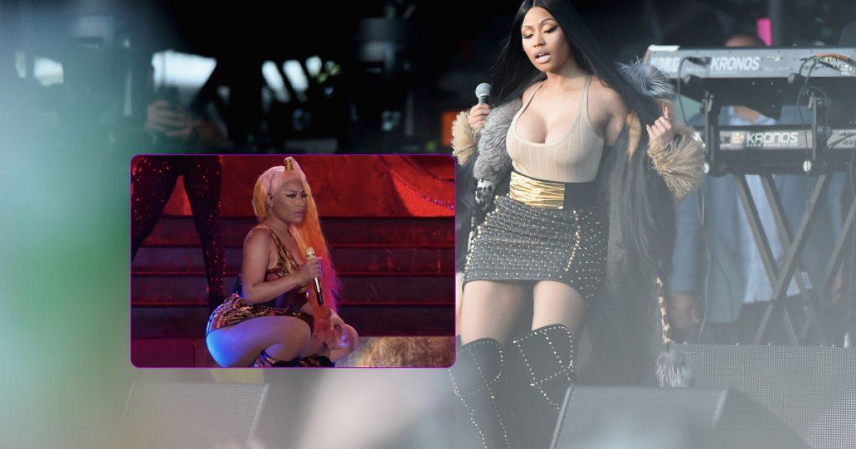 Defekt në rrobat e Nicki Minaj, ekspozohet në koncert