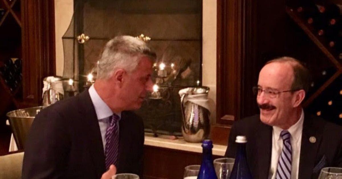 Thaçi: Kënaqësi të takohem me mikun e Kosovës, Eliot Engel