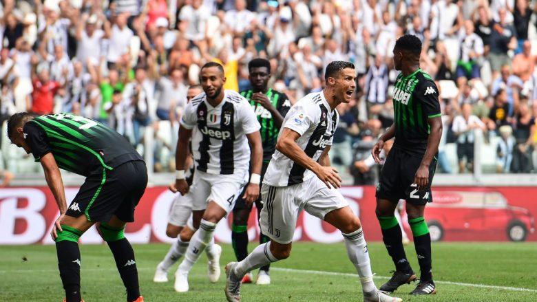 Juventusi merr fitoren e katërt radhazi, Ronaldo ia bënë 'sefte' golit edhe në Serie A