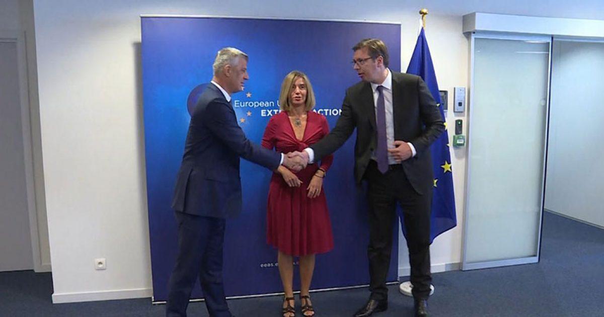 Mogherini përgënjeshtron Vuçiqin, të dy presidentët konfirmuan angazhim
