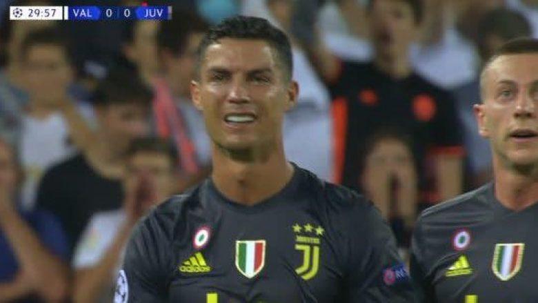 Ronaldo ndëshkohet me të kuq në debutimin me Juven në LK