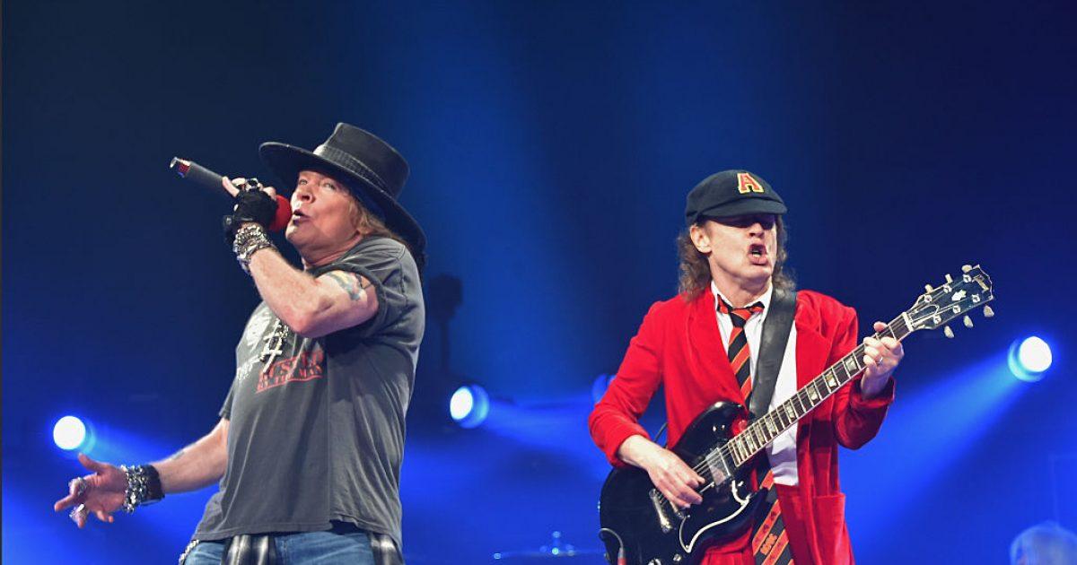 """Slash lëvdon performancën e Axl Rose me """"AC/DC"""""""