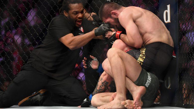 Momenti kur Khabib Nurmagomedov e detyroi Conor McGregorin të dorëzohet (Foto: Harry How/Getty Images/Guliver)