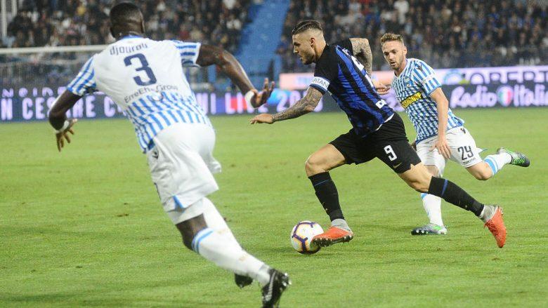 Mauro Icardi gjatë ndeshjes kundër SPAL-it (Foto: Mario Carlini / Iguana Press/Getty Images/Guliver)
