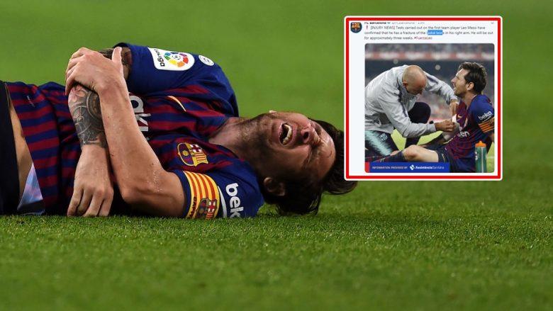Barcelona konfirmon lëndimin e Messit, ndeshjet që do të mungojë argjentinasi