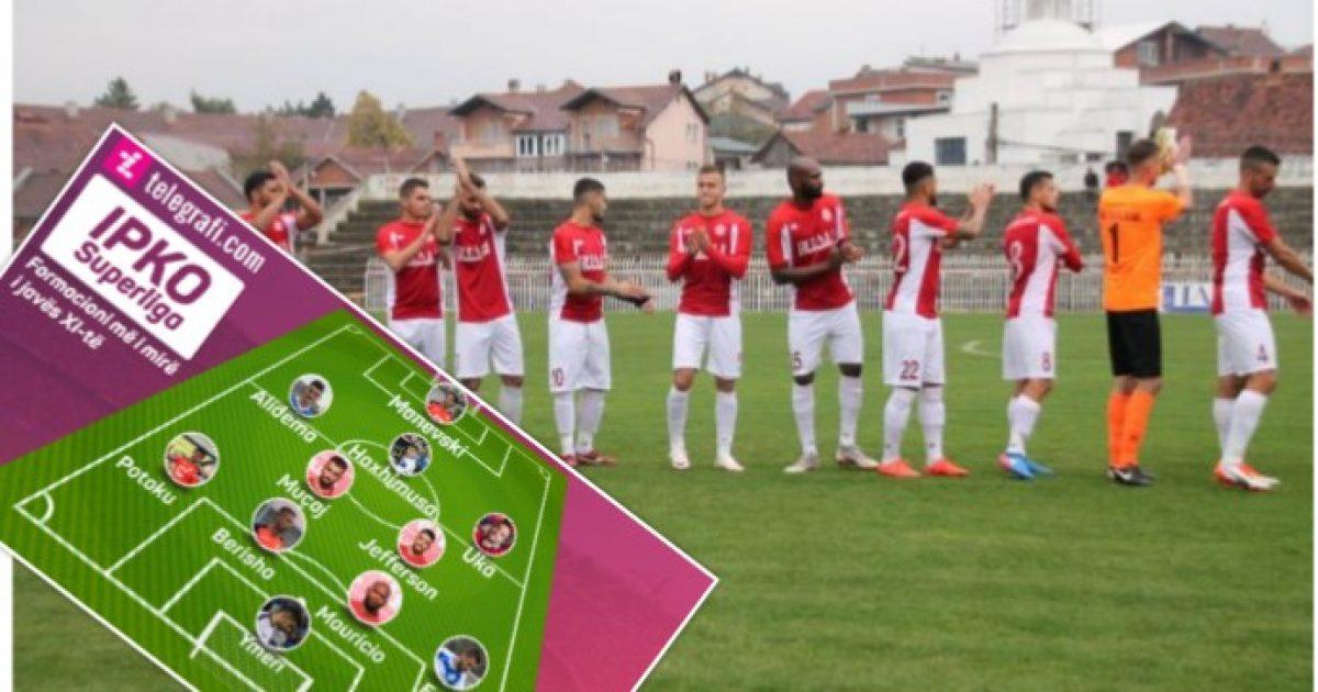 Formacioni i javës së XI të në IPKO Superligë   Fjalën kryesore futbollistët e Gjilanit  vlerësohen edhe ata të Drenicës dhe Ballkanit