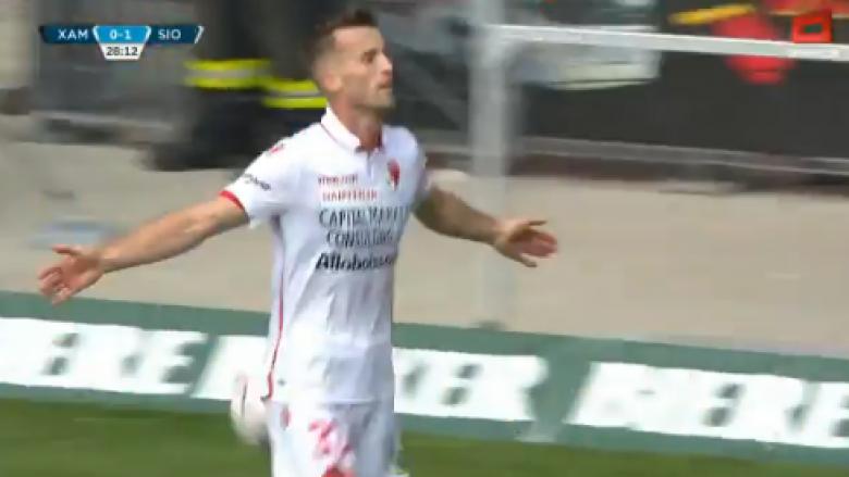 Lenjani shënon gol në barazimin e Sionit ndaj Xamaxit