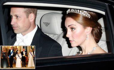 Dukesha Kate Middleton arrin në banketin shtetëror me kurorën e Princeshës Diana