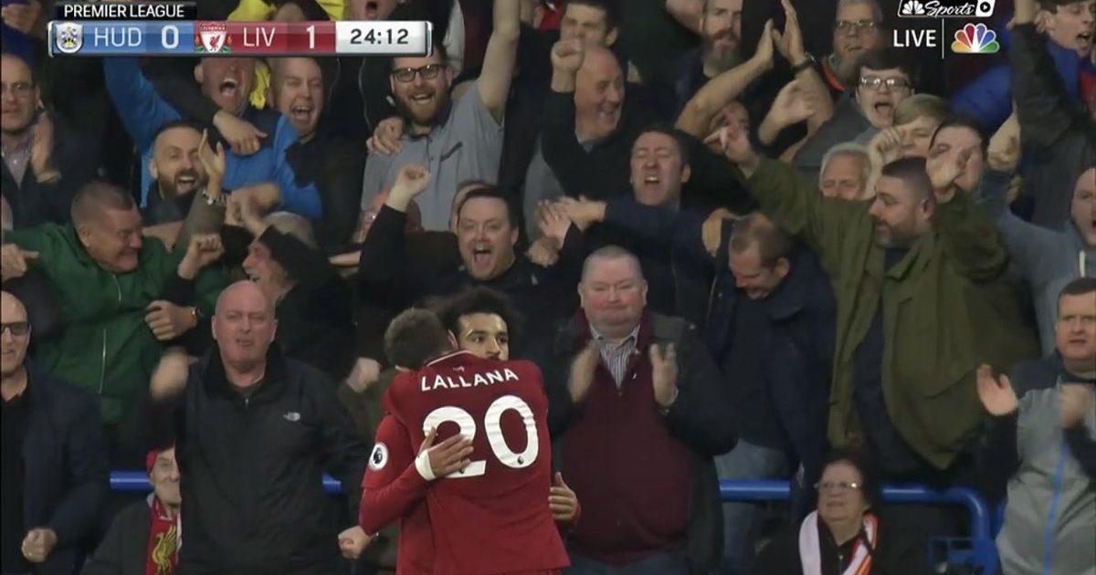 Shaqiri asiston për golin e 50-të të Salahut në Ligën Premier