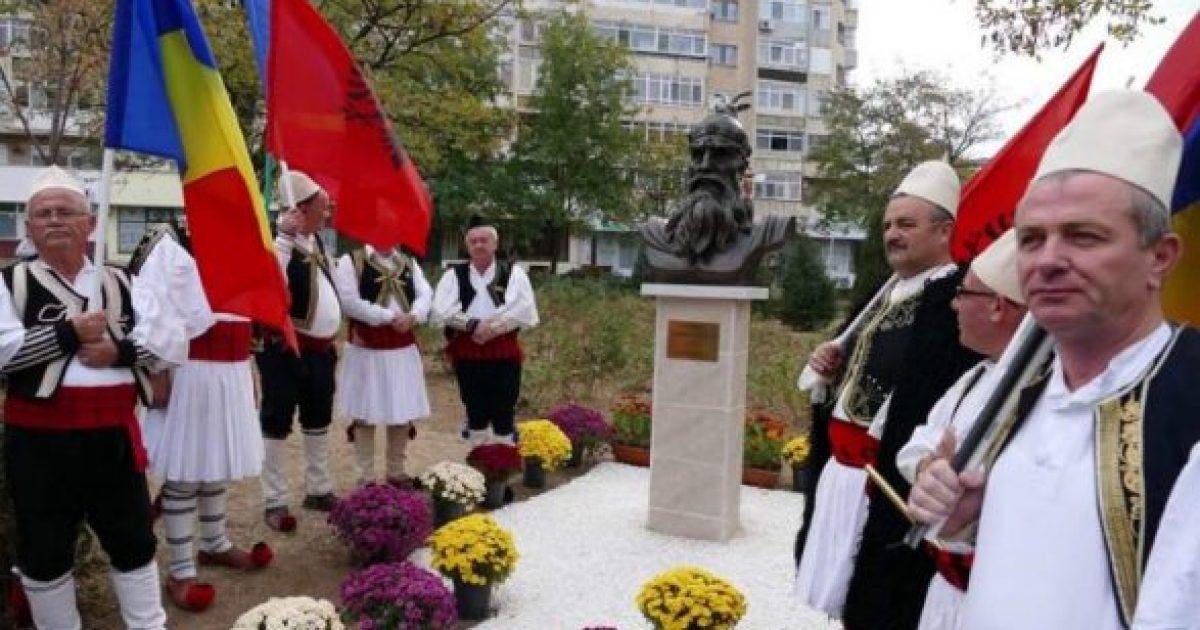 Në Krajova të Rumanisë vendoset busti i Skënderbeut (Video)