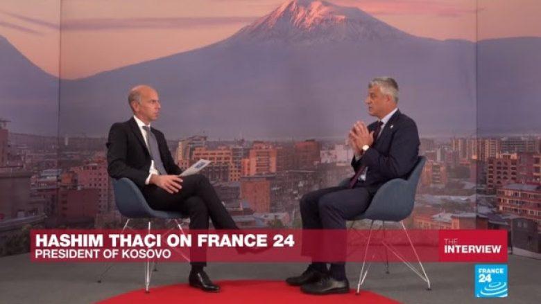 Thaçi vazhdon të flasë për korrigjim të kufijve, thotë se po e shpëton Kosovën nga ndarja