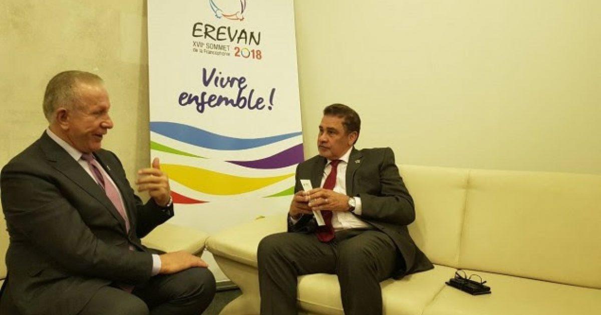 Pacolli në Armeni i shtron kërkesën për njohje përfaqësuesit të Seychelles në Organizatën e Frankofonisë