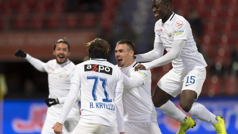 Dominim i futbollistëve shqiptarë në Zvicër, katër nga ta futen në formacionin e javës