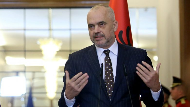 Foreign Policy Chief Federica Mogherini (L) during a joint press conference with Albanian Prime Minister Edi Rama (R) in Tirana, on March 3, 2017. Mogherini is on a tour to the Balkan states - a tour that started in Montenegro and will end in Albania - to reassure the countries that the EU remains open for enlargement despite crises in the EU.  GENT SHKULLAKU / AFP