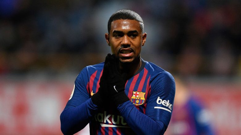 LEON, SPAIN - OCTOBER 31: Malcom of FC Barcelona reacts after missing a goal opportunity during the Spanish Copa del Rey match between Cultural Leonesa and FC Barcelona at Estadio Reino de Leon on October 31, 2018 in Leon, Spain. (Photo by Octavio Passos/Getty Images)