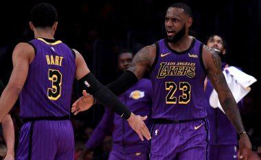 James shkëlqen me 44 pikë në fitoren e Lakersave kundër Blazers