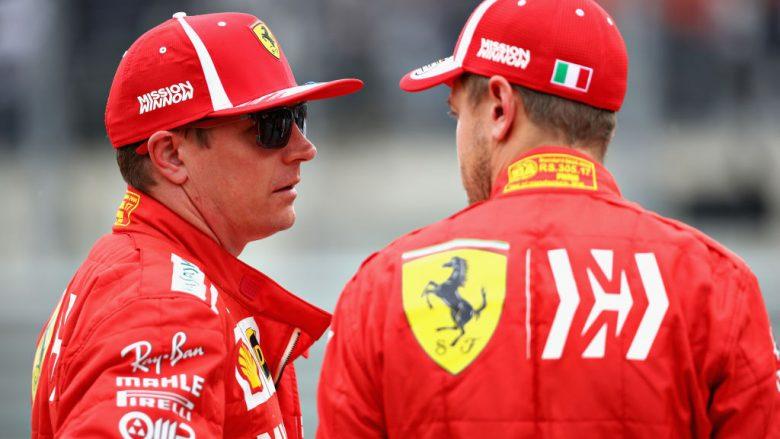 Kimi Raikkonen dhe  Sebastian Vettel (Foto: Mark Thompson/Getty Images/Guliver)