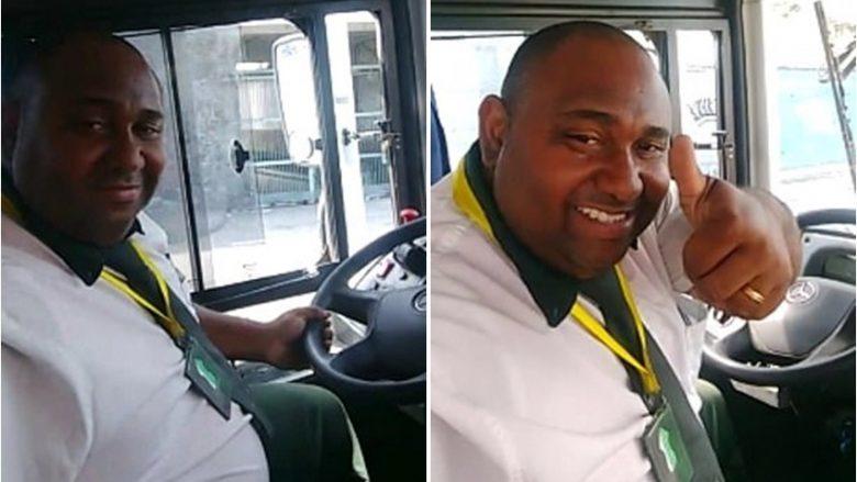 Gjendej para timonit të autobusit, shoferi regjistron veten duke mbajtur kokën anash – për t'i mashtruar kolegët (Video)