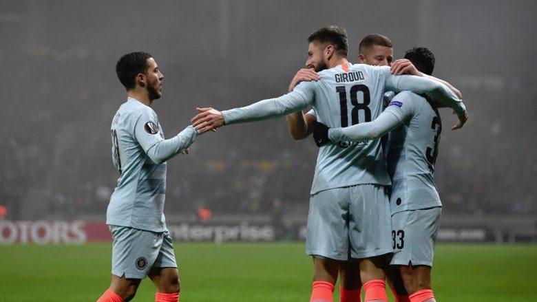 Chelsea triumfon në udhëtim dhe kualifikohet nga Grupi L