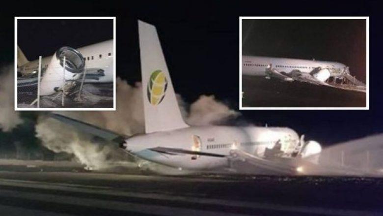 Problem hidrauliku, aeroplani detyrohet të kthehet pas 10 minutash – por e huq edhe pistën (Foto/Video)
