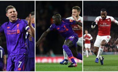 Arsenal 1-1 Liverpool: Notat e lojtarëve, Mustafi më i miri te Topçinjtë