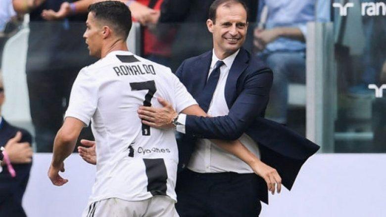 Allegri: Ronaldo e do një Top të Artë me Juventusin, ndeshja me Interin e madhe