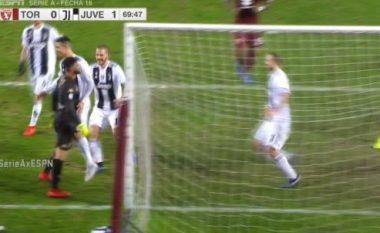 CR7 shënon nga pika e bardhë, provokon portierin e Torinos me festën e golit
