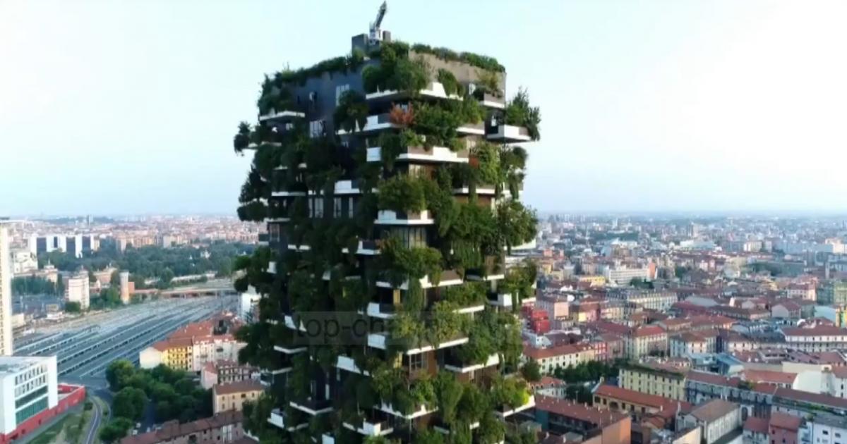 """Projekti ambicioz i Milanos pas """"Pyllit vertikal"""", 3 milionë pemë deri në vitin 2030 (Video)"""