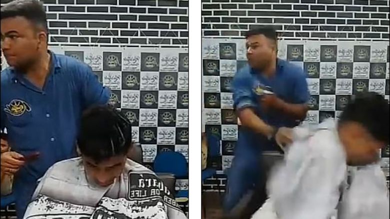 Adoleshenti qëllohet me gjashtë plumba te berberi, shpëton mrekullisht – ngjarja transmetohet live (Video, +18)