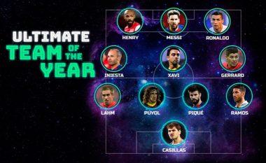 Formacioni më i mirë i të gjitha kohërave i Ligës së Kampionëve, mbizotërojnë yjet e Barcelonës dhe Real Madridit