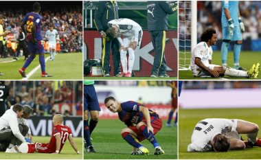 Dhjetë futbollistët që gjithmonë lëndohen – Nga Vermalen e Bale, te Umtiti e Robben