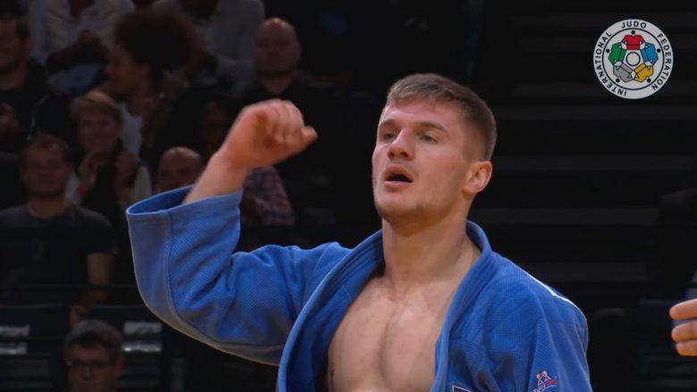 Akil Gjakova duke iu gëzuar një prej sukseseve të tij (Foto: Judo/YouTube)
