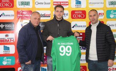 Zyrtare: Ballkani nënshkruan me portierin Bledar Hajdini