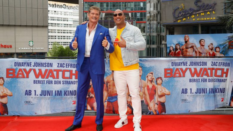 David Hasselhoff dhe Dwayne Johnson (Foto: Andreas Rentz/Getty Images for Paramount Pictures/Guliver)