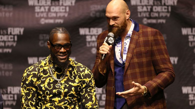 Deontay Wilder dhe Tyson Fury (Foto: Victor Decolongon/Getty Images/Guliver)
