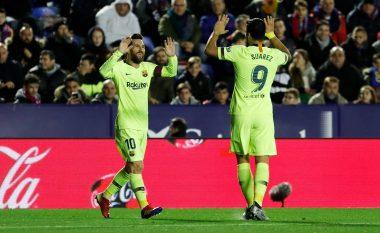 Barça fiton lehtësisht ndaj Levantas fal het-trikut të Messit