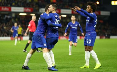 Hazard në histori të Chelseat, bëhet lojtari i dhjetë që arrin shifrën e 100 golave