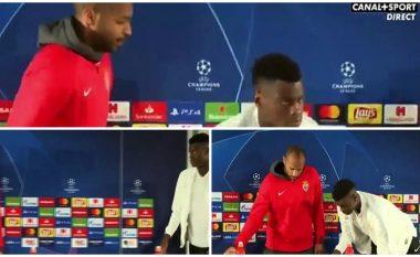 Henry i jep një shikim vrasës mbrojtësit 17 vjeçar të Monacos vetëm pse ky i fundit harroi ta rregullojë karrigen pas intervistës