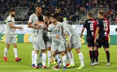 Cagliari përmbys rezultatin me nëntë lojtarë dhe barazon me Romën
