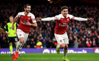 Arsenali fiton me vështirësi ndaj Huddersfieldit, Torreira shënon me gërshërë