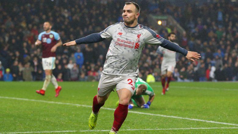 Notat e lojtarëve: Burnley 1-3 Liverpool, Van Dijk më i miri në fushë – vlerësohet paraqitja e Shaqirit