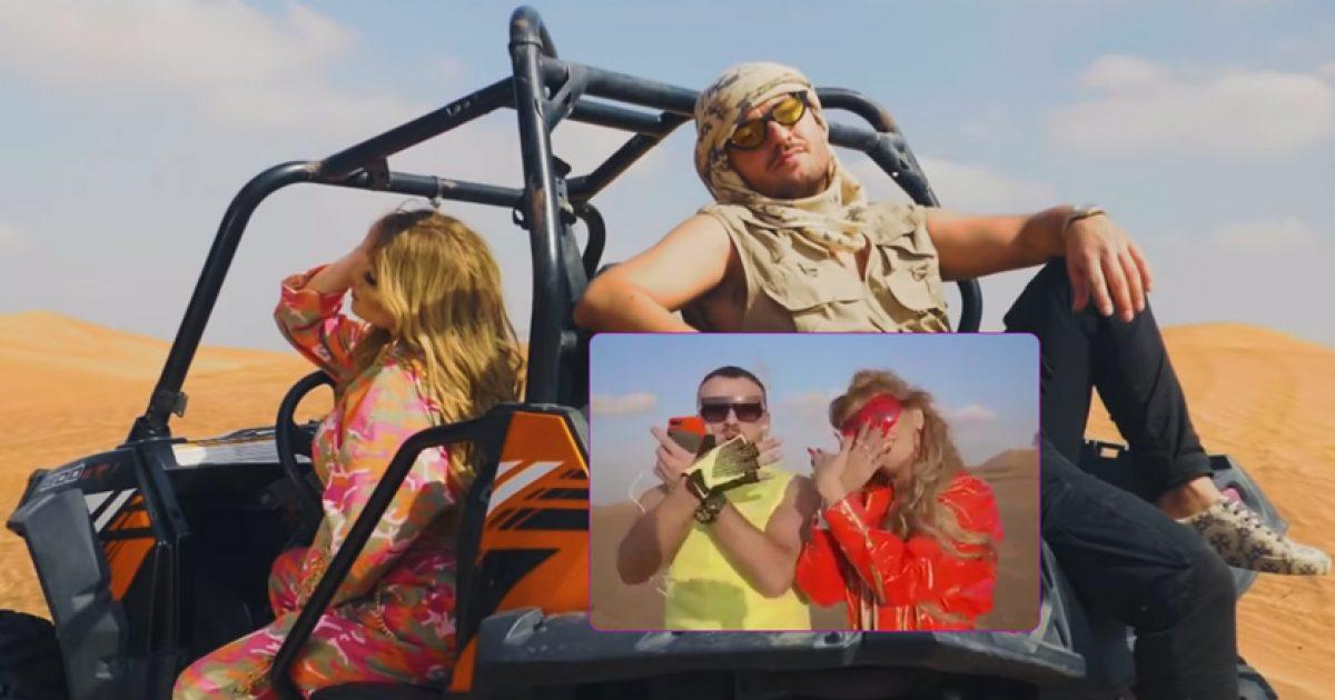 Ardian Bujupi publikon prapaskena nga xhirimi i klipit me Helly Luv, këngëtarja kurde bën shqiponjën me duar
