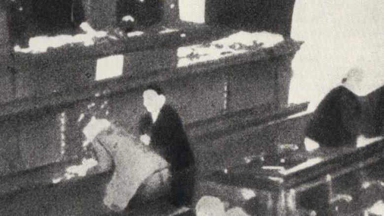 Pamje nga atentati i 20 qershorit 1928, në Kuvendin e Jugosllavisë