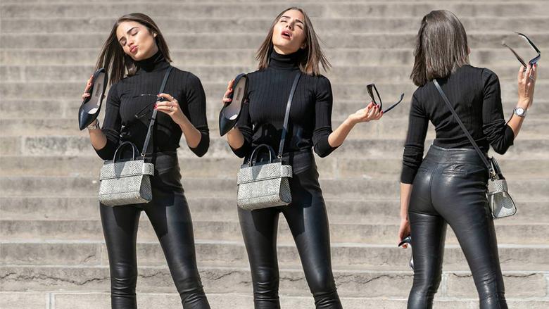Pantallonat e lëkurës janë rikthyer në modë, disa ide si t'i vishni dhe të dukeni gjithë stil (Foto)