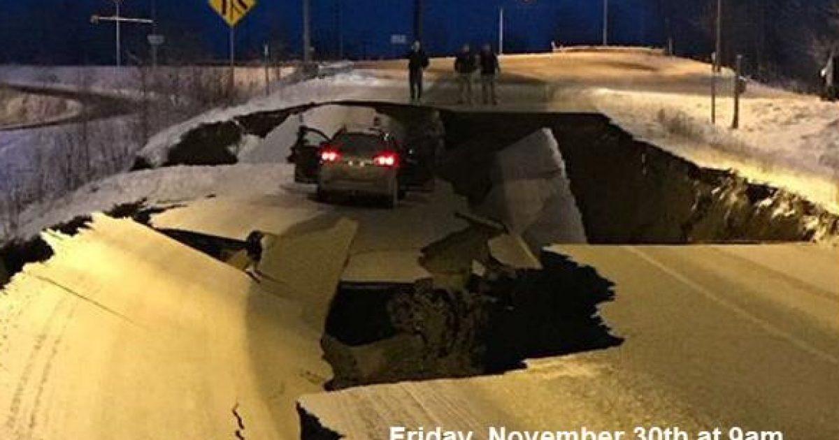 Të premten, një rrugë nga Alaska dukej kështu – u deshën vetëm katër ditë që ajo të ndryshonte tërësisht pamjen (Foto)