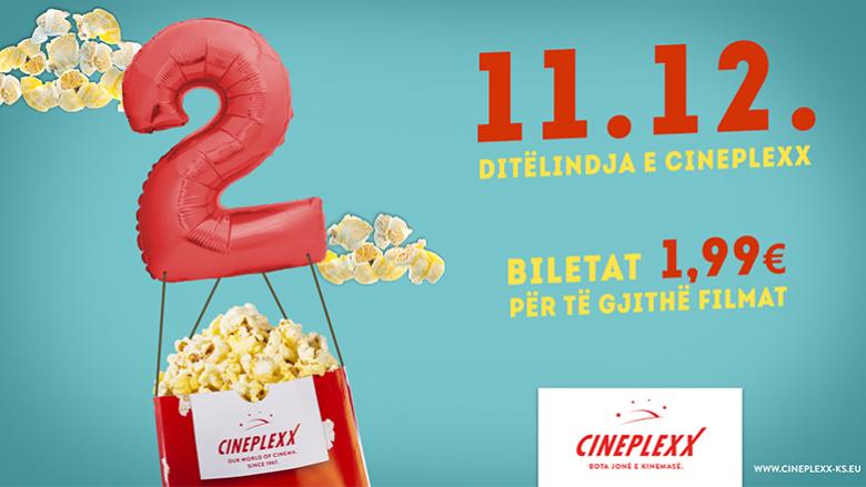 'Cineplexx' feston ditëlindjen me super-ofertë, të gjitha biletat për vetëm 1,99 euro!