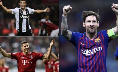 Golashënuesit më të mirë të vitit 2018 - Messi i pari, Ronaldo e Lewandowski pas tij