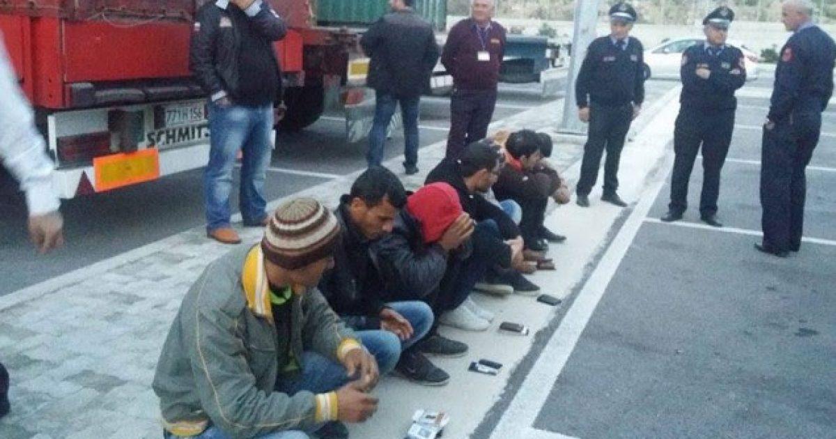 Korçë, policia ndalon 6 emigrantë të paligjshëm