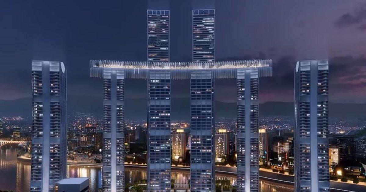 Kinezët përfundojnë ndërtimin e një kryevepre tjetër arkitektonike, i ka 8 rrokaqiej 250 të lartë (Video)